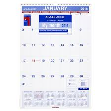 Amazon Com At A Glance Monthly Wall Calendar 2017 15 5 X 22 75
