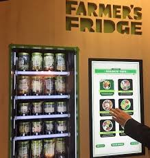Salad Vending Machine Chicago Stunning Saladdispensing Vending Machine At O'Hare Airport Stuck At The