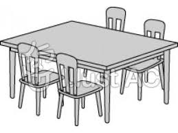 table clipart black and white. pin furniture clipart dinner table #1 black and white