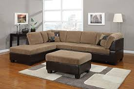 brown sectional sofas. Beautiful Sofas ACME 55945 Connell Sectional Sofa With Pillows Light Brown Corduroy And  Espresso Throughout Sofas D