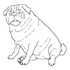pug coloring page the big red dog coloring pages the big red dog coloring pages dog