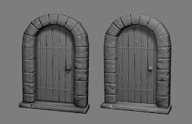 Medieval Doors medieval door polycount 5583 by xevi.us