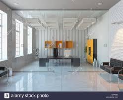 modern interior office stock. Modern Interior Design Of Office Room (3D Render) Stock Alamy