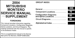2003 mitsubishi montero sport wiring diagram wiring diagrams 2004 mitsubishi montero wiring diagram manual original