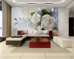 Beibehang 3 D Hd Witte Rozen Bloemen Fotos Muurschildering Behang