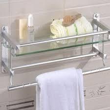 bathroom bath glass shower caddy shelf rack holder organizer wall mounted tier