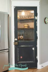 Vintage door repurposed as pantry door - by Rafterhouse. - I like the idea  of textured glass on our pantry door to distinguish it from the basement  door