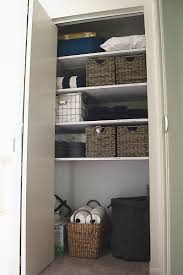 today i m sharing one of my favorite recent diy projects my diy linen closet organization makeover this linen closet went from embarrassingly disorganized