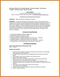 Hostess Resume Example Restaurant Host Mla Cover Page Experience