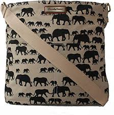 Ellie <b>Elephant Print</b> Crossbody <b>Bag</b> in Beige: Amazon.co.uk: Shoes ...
