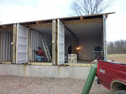 How To Build Storage Container Homes How To Build Tin Can Cabin