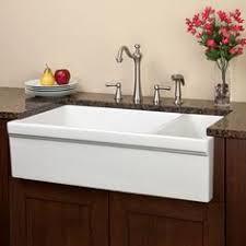 36 gallo reversible 8020 offset double bowl italian fireclay farmhouse sink apron kitchen sink kitchen sinks alcove