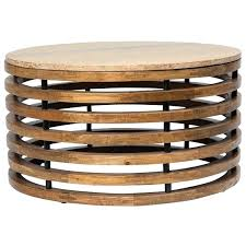 slat coffee table handmade round marble top and wooden slat coffee table flinders slat side table