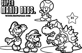 Small Picture Super Mario Pack Scene Super Mario Coloring Page Wecoloringpage