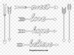 Arrows Printable Outline Cut Template Arrow String Art