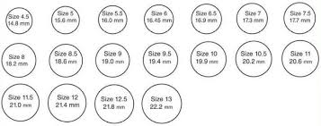 Mens Online Ring Size Chart Online Ring Size Chart For Men Women Find Your True Ring