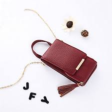 women wallet high quality leather card holder female shoulder money phone purses fashion chain small purse