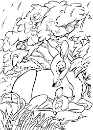 Small Picture Bambi Coloring Pages Printable Cartoon Coloring pages of