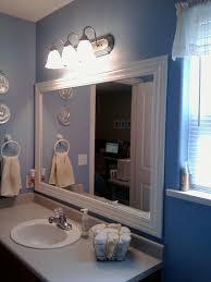 framed bathroom mirrors wall