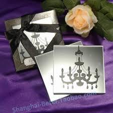 paris love chandelier mirrored coaster marriage favors beter bd019
