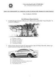 Ferrara Design Industriale Test Di Ammissione Design Docsity