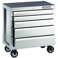 Roll Around File Cabinets 32 Inch 5 Drawer Premium Heavy A Tough Tool Cabinet From Sears