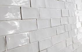 Bathroom Ideas White Beveled Subway Tile Backsplash With Gray ...