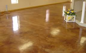 diy stained concrete floors cost