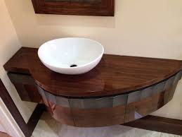 high gloss american black walnut bathroom vanity unit