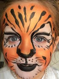easy tiger face painting ideas fun