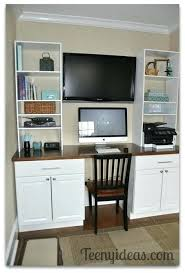 kitchen office nook. Diy Office Kitchen Built Ins Using Stock Cabinets And Custom  Storage Towers . Nook