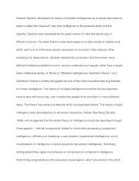 answer the question being asked about multiple intelligence essay multiple intelligences essay example topics and well