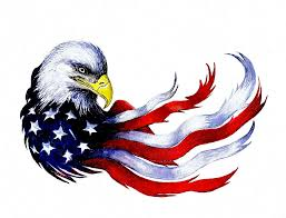 Patriotic Eagle Painting by Andrew Read