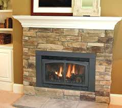 gas fireplace stone surround restructuring from wood