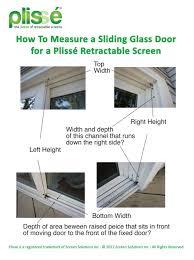 how to measure a sliding glass door for a plisse retractable door screen