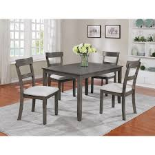 Crown Mark Henderson 2254set Gy 5 Piece Dining Table And Chair Set
