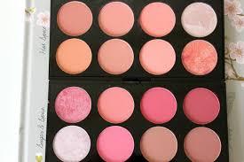 makeup revolution blush palettes in hot e sugar e