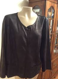 new nwt plus size 2x faux soft leather womens stretch black jacket macys style co