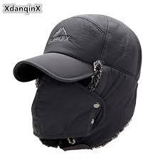 <b>XdanqinX</b> Men's Ear Protection Face Bomber <b>Hats</b> Thicker Plus ...