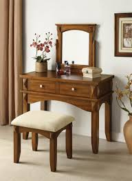 Aldora Rustic Oak Makeup Vanity Table Set Randy Gregory Design Pertaining  To Sizing 800 X 1092