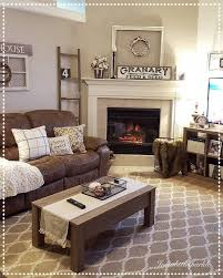 furniture for living room ideas. cozy living room brown couch decor ladder winter furniture for ideas