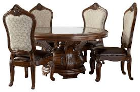 round dining table with chairs. tuscano melange 6-piece round dining table set victorian-dining-sets with chairs