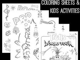 Free printable trolls 2 trollzart pdf coloring pages. Free Trolls World Tour Coloring Sheets Kids Activities Raising Whasians