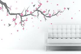 cherry blossom wall decal zoom cherry blossom tree wall decal uk