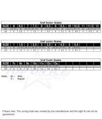 Graf Size Chart Skates Graf Supra G5035 Senior Ee 6 189 95