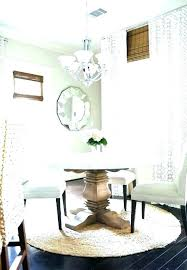 round rug for under kitchen table what size dining rugs room awesome area r