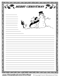 Christmas Writing Paper Template Free Printable Christmas Writing Paper Templates