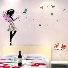 fairy wall decals fairy decals for walls also romantic cartoon angel wings flower fairy