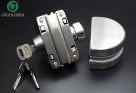 china manufacture of door lock smart frameless sliding glass door lock china lock auto parts