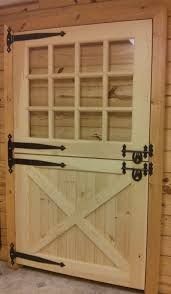 custom built wooden barn doors quality amish interior solid dutch door with window